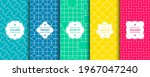 set of vector seamless colorful ... | Shutterstock .eps vector #1967047240