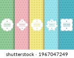 set of colorful seamless... | Shutterstock .eps vector #1967047249