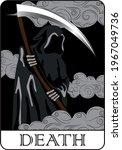 vintage mystic death tarot card ... | Shutterstock .eps vector #1967049736