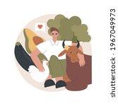 vegetarianism abstract concept...   Shutterstock .eps vector #1967049973