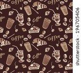 vintage seamless pattern of...   Shutterstock .eps vector #196705406