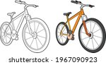 bicycle vector drawing...   Shutterstock .eps vector #1967090923