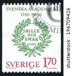 sweden   circa 1986  stamp...   Shutterstock . vector #196709426