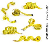 measuring tape collection of... | Shutterstock . vector #196710254