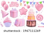 happy birthday holiday... | Shutterstock .eps vector #1967111269