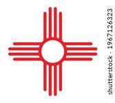 zia symbol icon. clipart image... | Shutterstock .eps vector #1967126323