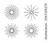 retro sun burst line vintage... | Shutterstock .eps vector #1967155273