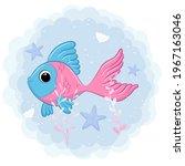 cute fish swimming in the sea....   Shutterstock .eps vector #1967163046