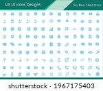 ux ui icon designs   sky blue