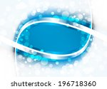 abstract blue background.... | Shutterstock .eps vector #196718360