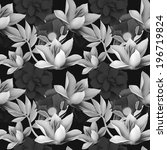 seamless tropical flower  plant ... | Shutterstock . vector #196719824