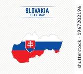 Flag Map of Slovakia. Slovakia Flag Map