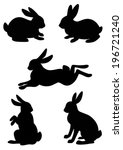 vector silhouette of the rabbit ... | Shutterstock .eps vector #196721240