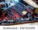 Close Up Firewood  Hot Coals...