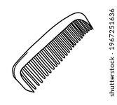 comb doodle vector icon....   Shutterstock .eps vector #1967251636