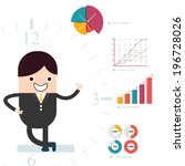 infographic with businessman... | Shutterstock .eps vector #196728026