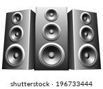 three big speakers in a row. | Shutterstock .eps vector #196733444