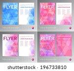 vector abstract flyer designs... | Shutterstock .eps vector #196733810
