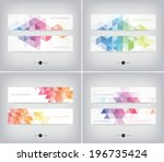 vector banners collection with... | Shutterstock .eps vector #196735424