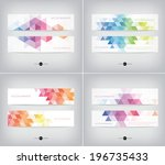 vector banners collection with... | Shutterstock .eps vector #196735433