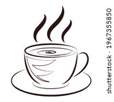 coffee cup icon. hot coffee... | Shutterstock .eps vector #1967355850