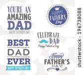 Happy Father's Day Vector Set - You're An Amazing Dad, Celebrate Dad, Best Dad Ever