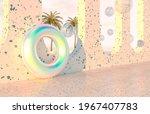 summer beach scene background... | Shutterstock . vector #1967407783