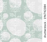 floral lotus flower seamless... | Shutterstock .eps vector #196742384