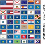 flags of american states | Shutterstock . vector #196742846