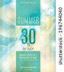 elegant summer party invitation ... | Shutterstock .eps vector #196744040