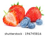 Strawberries And Blueberries O...