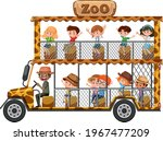 zoo concept with children on... | Shutterstock .eps vector #1967477209