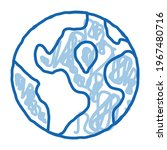 earth planet topography sketch...   Shutterstock .eps vector #1967480716