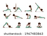 african american woman in yoga... | Shutterstock .eps vector #1967483863