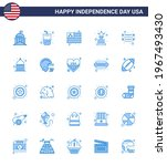 set of 25 usa day icons...   Shutterstock .eps vector #1967493430