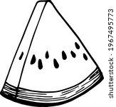 single element of watermelon... | Shutterstock .eps vector #1967495773