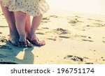 mother and baby feet at the... | Shutterstock . vector #196751174