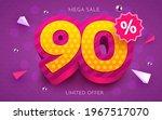 90 percent off. discount... | Shutterstock .eps vector #1967517070