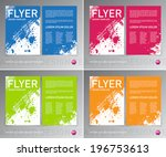 colorful vector abstract... | Shutterstock .eps vector #196753613