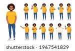 young african man in casual... | Shutterstock .eps vector #1967541829