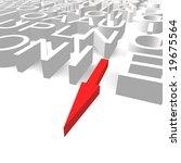 crossword direction | Shutterstock . vector #19675564