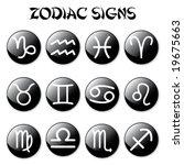 zodiac signs on black | Shutterstock .eps vector #19675663