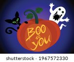 Halloween Booed Vector Stock...