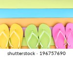 Bright Flip Flops On Color...