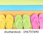Bright Flip Flops On Color...