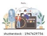 radio host concept. idea of... | Shutterstock .eps vector #1967629756
