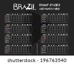 brazil football tournament... | Shutterstock .eps vector #196763540