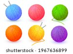Different Color Balls Of Yarn...