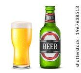 Realistic Green Vector Beer...