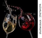 Red And White Wine Splash